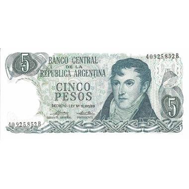 argentine 5 pesos