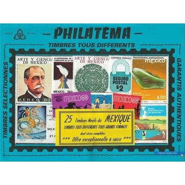 25 timbres mexique serie2