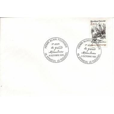 enveloppe 1er jour1986HENRI FOURNIER LE GRAND MEAULNES