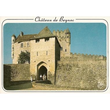 carte postale chateau de beynac