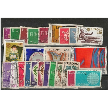 25 timbres europa france
