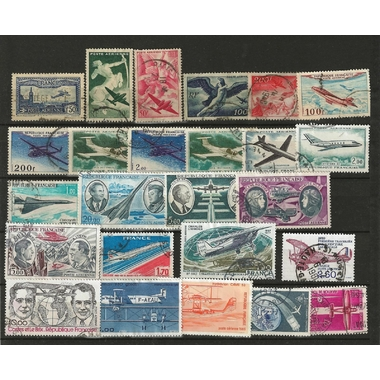 25 TIMBRES AVION FRANCE