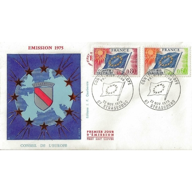 1975 CONSEIL EUROPE 2 TIMBRES