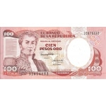 BILLET COLOMBIE 100 PESOS