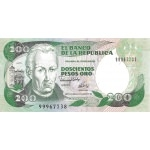 BILLET COLOMBIE 200 PESOS