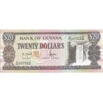 BILLET GUYANE 20 DOLLARS