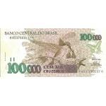 BILLET BRESIL 100 000 CRUZEIROS