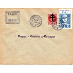 """ENVELOPPE HISTORIQUE LIBÉRATION DE PARIS """"AOUT 1944"""""""