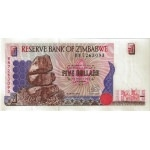 BILLET ZIMBABWE 5 DOLLARS