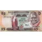 BILLET ZAMBIE 5 KWACHA