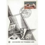 CARTE MAXIMUM 1966 / JOURNEE DU TIMBRE / GRAVURE D'UN TIMBRE