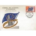 CARTE MAXIMUM 1965 / CONSEIL DE L'EUROPE 30cts / STRASBOURG