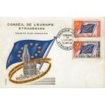 CARTE MAXIMUM 1965 / CONSEIL DE L'EUROPE 30+60cts / STRASBOURG