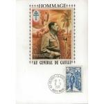 CARTE MAXIMUM 1971 / HOMMAGE AU GÉNÉRAL DE GAULLE / HTE MARNE