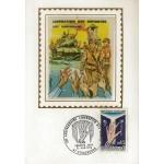 CARTE MAXIMUM 1970 / 25ème ANNIVERSAIRE LIBÉRATION DES CAMPS / STRASBOURG