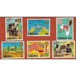 TIMBRES ANNIVERSAIRE DU ROTARY INTERNATIONAL LIBERIA
