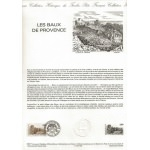DOCUMENT PHILATÉLIQUE LES BAUX DE PROVENCE 1987