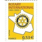 TIMBRE ROTARY INTERNATIONAL AUTOADHÉSIF N°52 NEUF