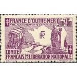 TIMBRES COMITÉ DE LIBÉRATION NATIONALE + SOLIDARITE FRANÇAISE