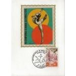 CARTE MAXIMUM 1978 / 19ème CHAMPIONNATS DU MONDE DE GYM / STRASBOURG