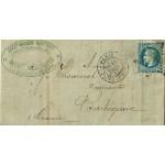 PLI LETTRE 10 FÉVRIER 1869 TIMBRE NAPOLÉON III