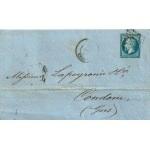 PLI LETTRE 22 DÉCEMBRE 1858 TIMBRE NAPOLÉON III