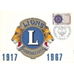 CARTE MAXIMUM 1967 / CINQUANTENAIRE LIONS CLUB INTERNATIONAL / PARIS