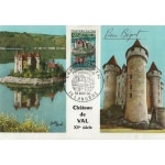 CARTE MAXIMUM 1966 / CHÂTEAU DE VAL / LANOBRE