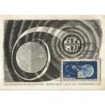 CARTE MAXIMUM 1962 / 1ère LAISON DE TELEVISION PAR SATELLITE / PLEUMEUR BODOU