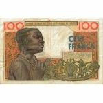 BILLET ETATS AFRIQUE OUEST 100 VERSO