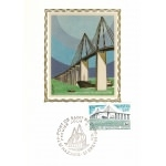 CARTE MAXIMUM 1975 / PONT DE SAINT NAZAIRE / ST NAZAIRE ST BREVIN