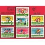 FOOTBALL COUPE DU MONDE  ITALIE 90 timbres de ROUMANIE