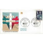 ENVELOPPE ILLUSTRÉE 1er JOUR 1967 / 25ème ANNIVERSAIRE DE BIR HAKEIM / PARIS