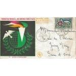 ENVELOPPE ILLUSTRÉE 1er JOUR 1961 / FEDERATION MONDIALE DES ANCIENS COMBATTANTS