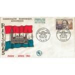 ENVELOPPE ILLUSTRÉE 1er JOUR 1963 / HUGO DE GROOT / PARIS