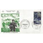 ENVELOPPE ILLUSTREE 1er JOUR 1969 / PARACHUTISTES ET COMMANDOS / PARIS