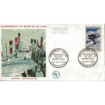ENVELOPPE ILLUSTRÉE 1er JOUR 1962 / CHAMPIONNAT DU MONDE DE SKI CHAMONIX 1962