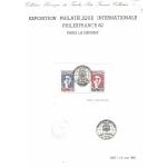 DOCUMENT PHILATELIQUE PHILEXFRANCE82 PAGE3