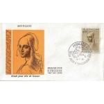 ENVELOPPE 1er JOUR 1969 / ETUDE POUR TETE DE FEMME LEONARD DE VINCI / MONACO