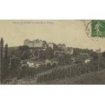 CHÂTEAU DE BERZE LE CHATEL (SAONE ET LOIRE) ET VILLAGE / 1912 (?)