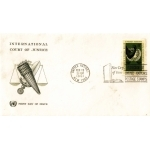 ENVELOPPE 1er JOUR 1961 / COUR INTERNATIONALE DE JUSTICE / NATIONS UNIES NEW YORK