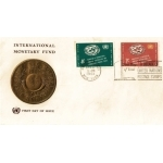 ENVELOPPE 1er JOUR 1961 / FOND MONETAIRE INTERNATIONAL 2 TIMBRES / NATIONS UNIES NEW YORK