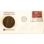 ENVELOPPE 1er JOUR 1961 / FOND MONETAIRE INTERNATIONAL 7C / NATIONS UNIES NEW YORK