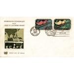 ENVELOPPE 1er JOUR 1960 / COMMISSION ECONOMIQUE POUR ASIE ET EXTREME ORIENT 2 TIMBRES / NATIONS UNIES NEW YORK