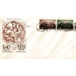 ENVELOPPE ILLUSTRÉE 1er JOUR 1958 / UNESCO / DÉCLARATION DES DROITS DE L'HOMME / CEYLAN