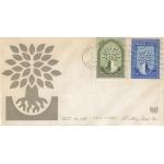ENVELOPPE ILLUSTRÉE 1er JOUR 1960 / ANNÉE DES RÉFUGIES / IRAN
