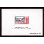 ANDORRE Bloc feuillet 1ère expo des timbres postes andorrans 1982