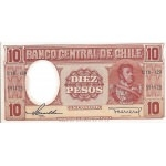 BILLET CHILI 10 PESOS
