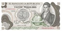 Colombie 20 pesos