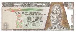 Guatemala 0.5 quetzal